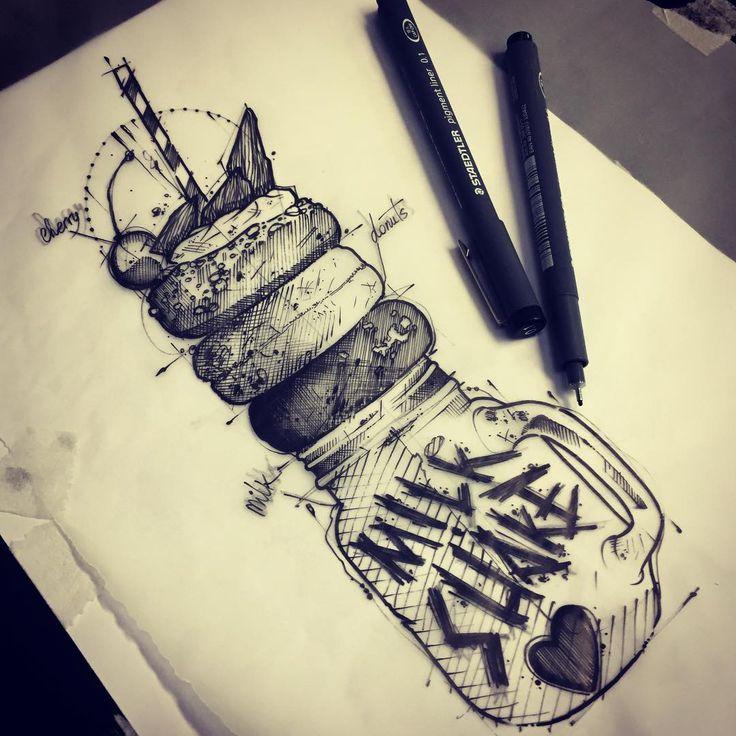You like Milkshake ?? This One is for you hahaha #ink #inked #tattoo #tattoos #tattooed #tattrx #btattooing #blackwork #dot #draw #drawing #equilattera #blackandwhite #blackworkers #iblackwork #dotwork #blxckink #sketch  #vsco #vscocam #darkartists #black #illustration #art #graphic #artoftheday #blackworkerssubmission #milkshake #doodle