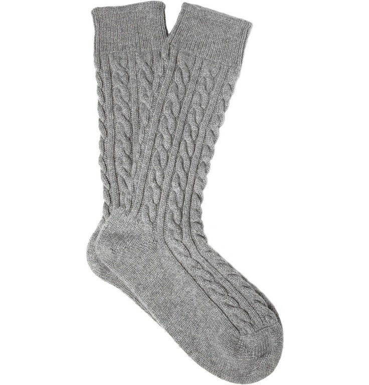 $175 CABLE KNIT CASHMERE SOCKS. Really though?Cableknit Cashmere, Cable Knit