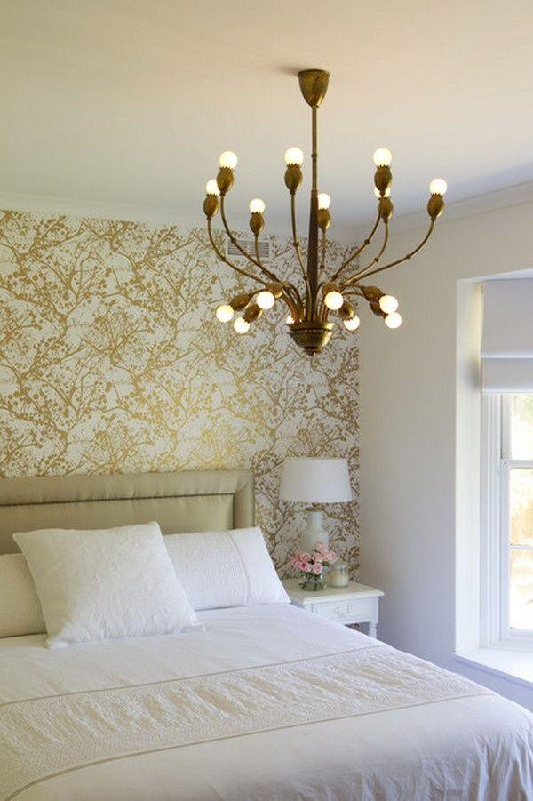gold printed wallpaper