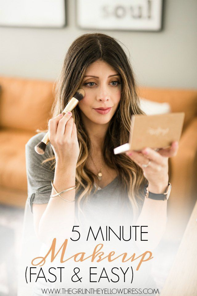 5 Minute Makeup (Fast & Easy) | easy makeup tutorial | makeup tutorial video | how to apply makeup | fast and easy makeup tutorial | easy makeup tutorial | makeup tips for busy moms | simple beauty tips | beauty tips and tricks || The Girl in the Yellow D