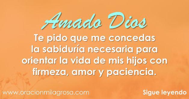 Amado Dios, hoy me acerco hasta Ti para darte gracias por tu amor, por tu bondad, por mi hermoso hogar y porque siempre puedo sentir tu sub...