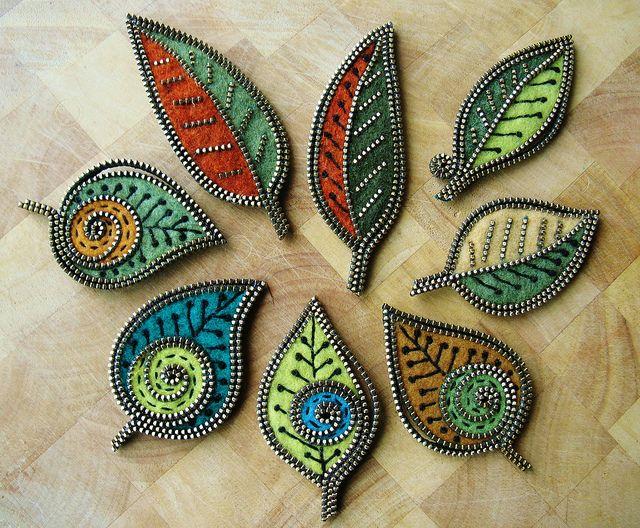 felt & zipper leaves