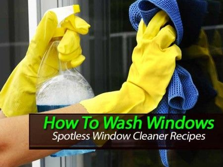 How To Wash Windows With A Spotless Window Cleaner Recipes -
