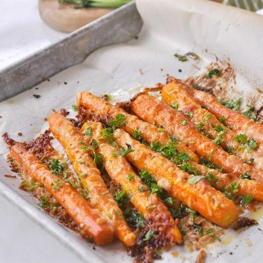 Parmesan Roasted Carrots