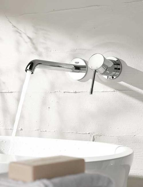 contemporary bathroom fixtures and furniture by grohe