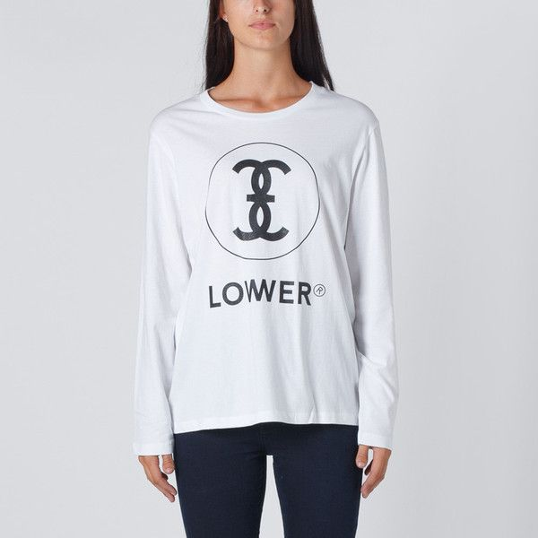Lower Relax L/S Tee Channel 3 - White   Thanks Store Online