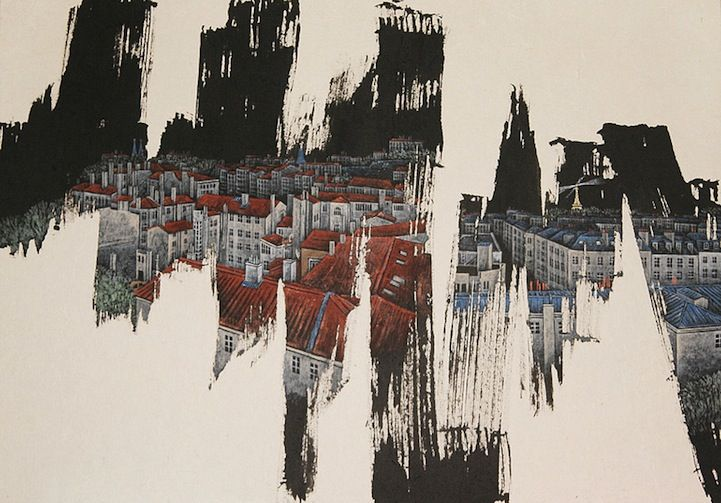 Lively Abstract Brushstrokes Reveal Detailed Cityscapes - My Modern Metropolis