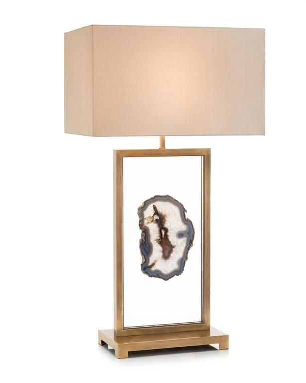 Floating Agate Table Lampdefault Title In 2021 Brass Table Lamps Lamp Beige Table Lamps