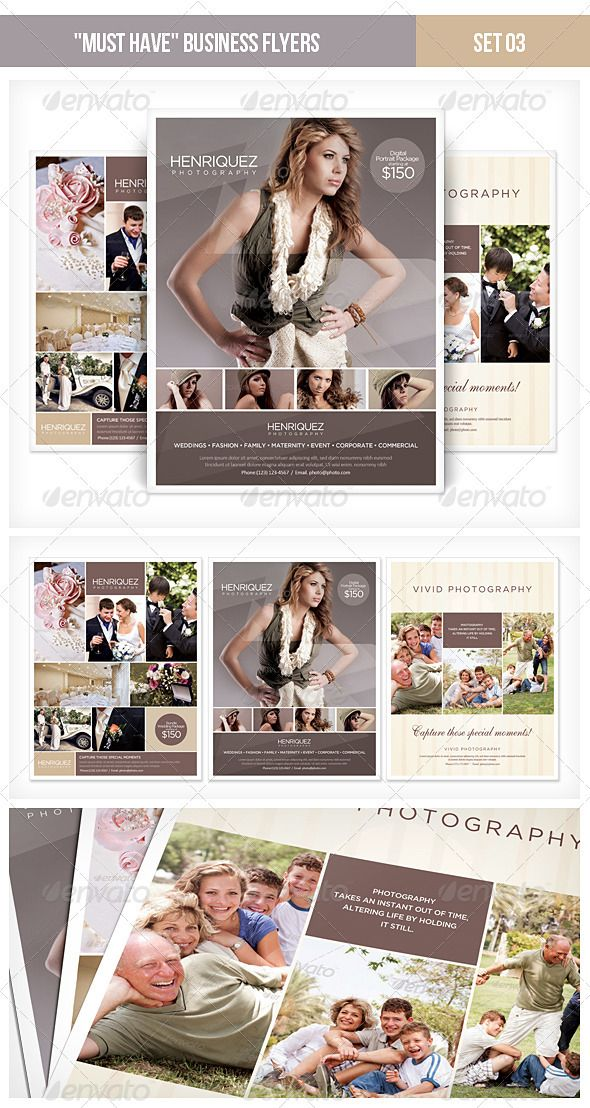 This template is perfect for a Photography company or a photographer that needs a modern corporate style flyer or magazine ads template. The template set contains 3 PSD files and readme file.