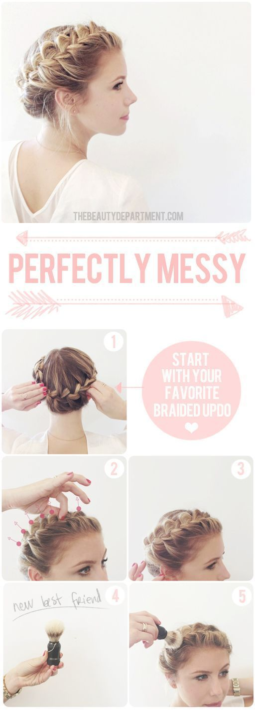 Pretty Braided Crown Hairstyle Tutorials and Ideas / http://www.himisspuff.com/easy-diy-braided-hairstyles-tutorials/4/