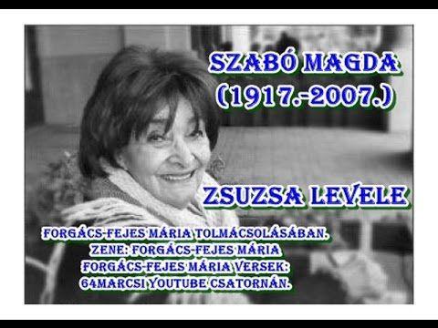 Szabó Magda - Zsuzsa levele - Álarcosbál - Zene és elmondja: Forgács-Fej...