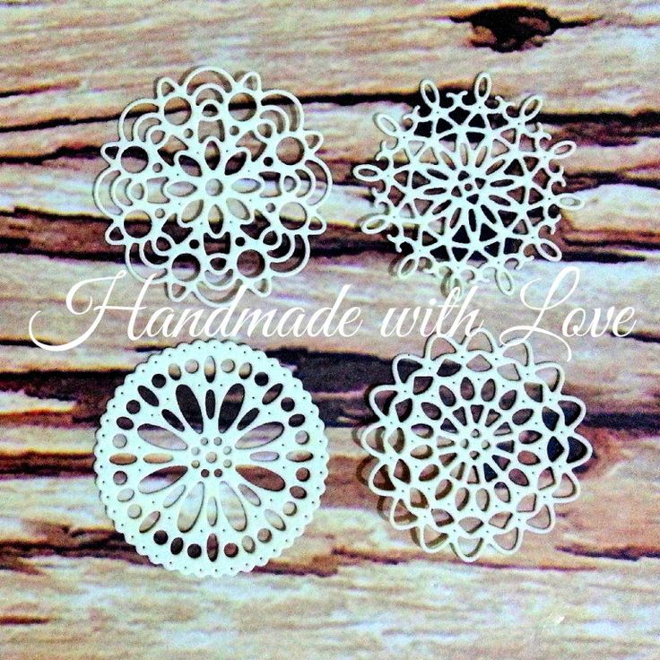 Mini Doilies Set, 1 pack of 5 sets (total 20pcs). Perfect for your tags, cards, scrapbook, banner, cupcake toppers, and many more! by PaperCraftwithLove on Etsy