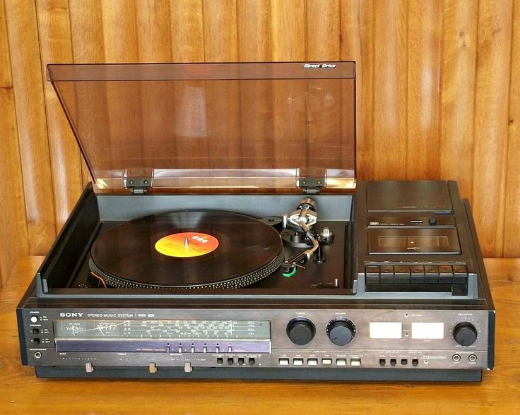 Vintage audio system collection. A fantastic collection of vintage audio systems from the early tabletop compact systems till the very successful separate components of the 70's and 80's.