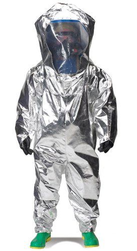 Lakeland Interceptor Fully Encapsulated Back Entry Level A Vapor Protective Suit, Disposable, Large, Blue, NFPA 1991 Certified awesome