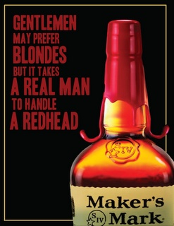 this pairs alcohol with sex appeal. this is innocent enough, but makers mark has released some really tasteless ads regarding women in the past.