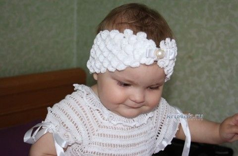 Повязка на голову Шахерезада. Мастер-класс! вязание и схемы вязания