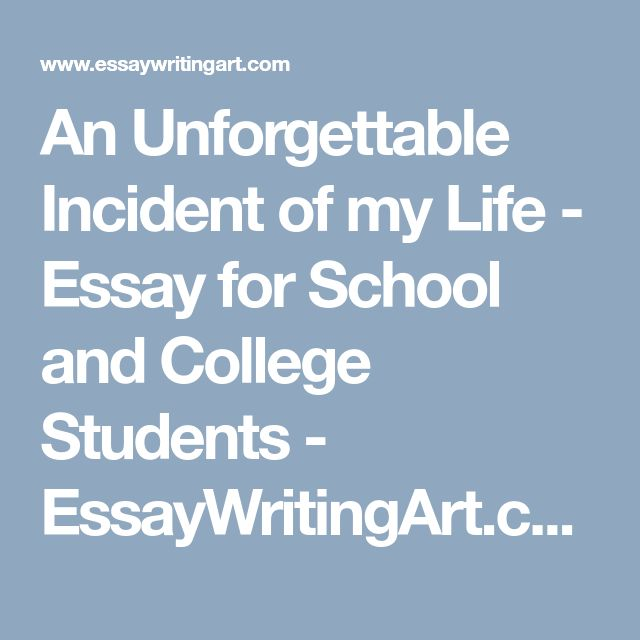 unforgettable experience essay Unlike most editing & proofreading services, we edit for everything: grammar, spelling, punctuation, idea flow, sentence structure, & more get started now.