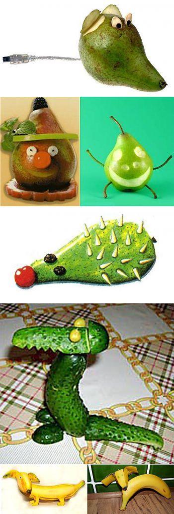Поделки из овощей и фруктов своими руками с фото. 22 Красивые детские поделки из фруктов и овощей для детей в сад, для школы