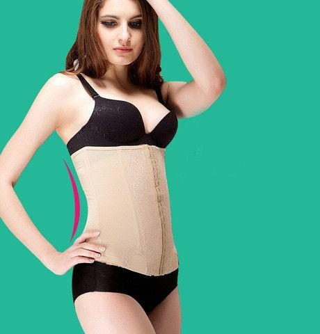Lacy Patterned Waist Tummy Girdle Belt Body Shaper Waist Cincher