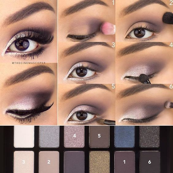 Can't think of what beauty look to wear tonight? Follow this easy tutorial on how to get a purple smokey eye using Maybelline The Rock Nudes palettes. Choose from deep matte shades, shimmering saturated tones, and bright illuminating shadows in this collection of 12 sultry shades.: