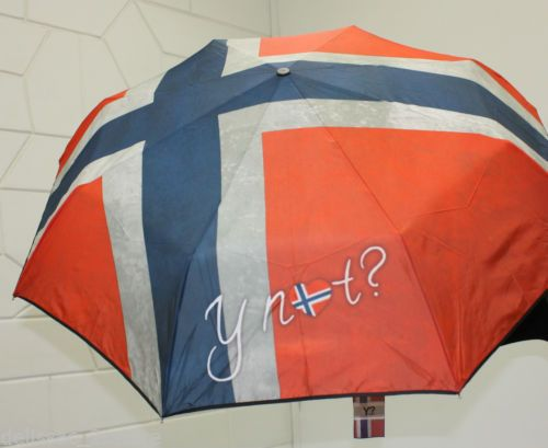 Ombrello antivento Y NOT automatico apri e chiudi stampa Bandiera Norvegese http://stores.ebay.it/delissac-2sstore