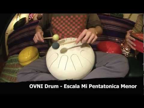 OVNI Drum - Steel Tongue Drum - Escala Mi Pentatonica menor - Em Pentatonic - Nektar - Not Hang