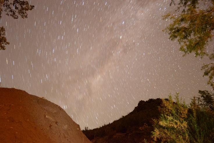 Lluvia de estrellas en el Cajón del Maipo. Foto de Ignacio Sepúlveda G.