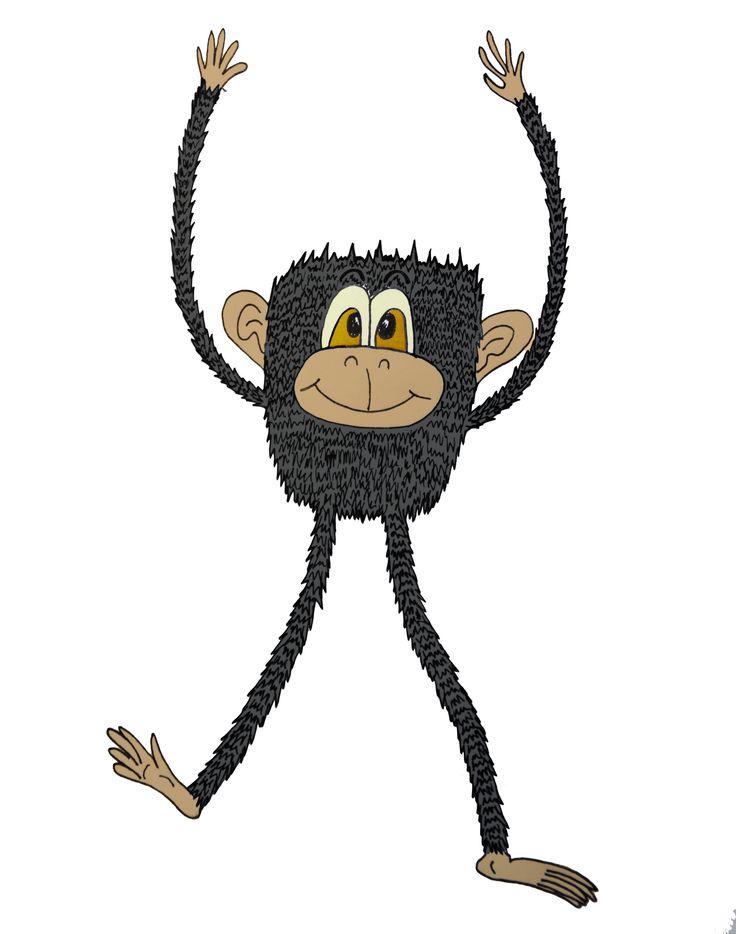 Affe Zeichnung, Illustration, Äffchen, Comic Affe zeichnen