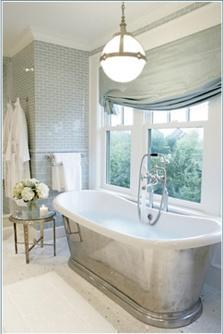 Love this grey bathroom