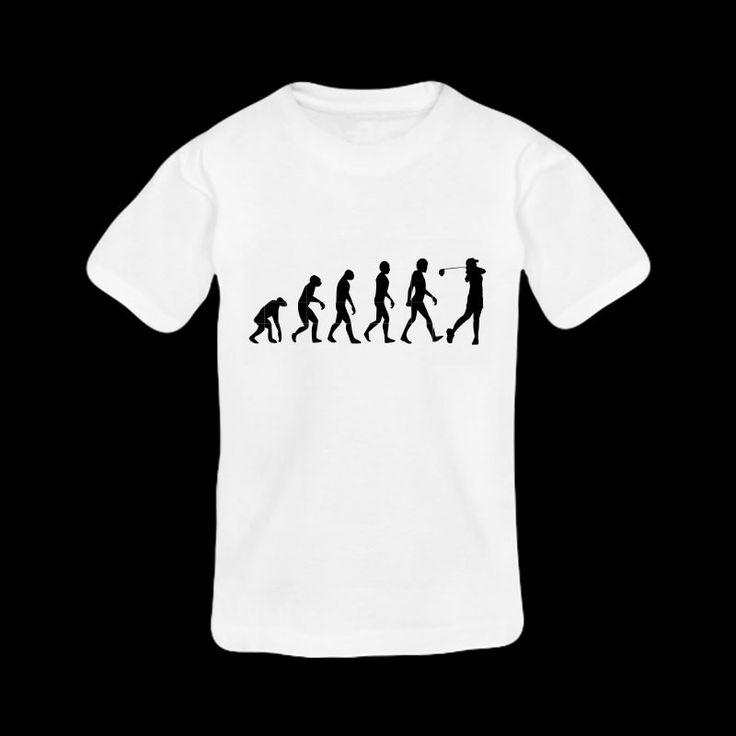 """T-shirt Personnalisé """"Evolution de l'Homme au Golf"""" : Tshirts, polos par creerpourvous"""