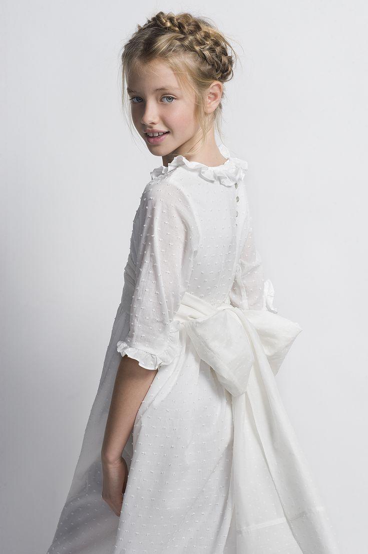 Vestido de comunión plumeti.