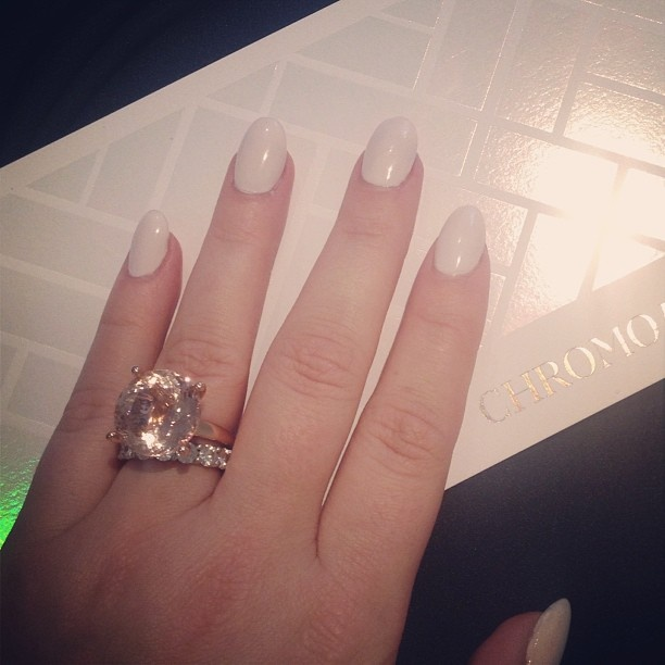 Hanging out with my new BFF the morganite cocktail ring with the gorgeous @Claire Aristides Fine Jewels, talking #mbfw! Love your invite too, @Bec & Bridge - @Heather Snodgrass-Brine- #webstagram #finejewels #jewellery #jewelry #finejewelry #clairearistides  #ringCandy #rings #cocktailrings #diamonds #engagementrings