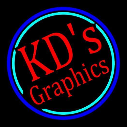 Our Neon Logo. KD'sGraphics.com