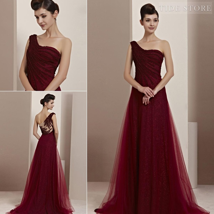 Blood Red Evening Gowns