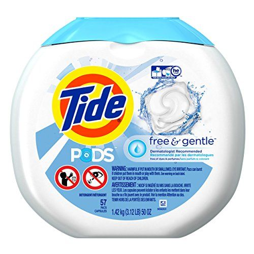#8: Tide PODS Free & Gentle Laundry Detergent Unscented 57 count Designed for Regular and HE Washers