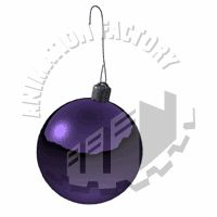 Purple Ornament Swinging Animated Clipart