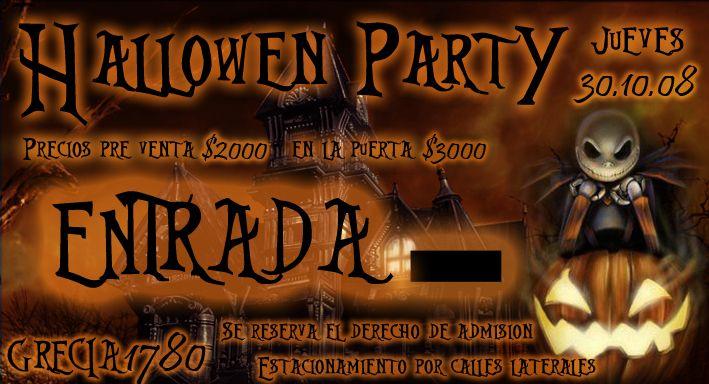 Hallowen Party - Entrada
