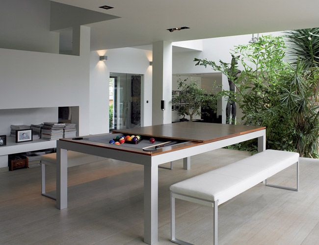 'Fusiontable' is an ideal solution for satisfying a billiards craving without wasting living space.