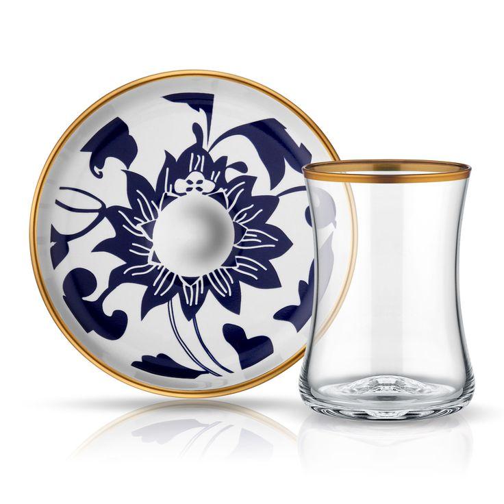 Koleksiyon Tiryaki Çay Seti 6Lı Bb Güz  6'lı 130cc altın bordürlü özel üretim çay bardağı ve altın bordürlü dekorlu çay tabağı seti  #çaybardağı #çaytakımı #çay #çayfincanı #cambardak #bardak #subardağı #kadeh #bardakaltı #glass #onthetable #drinks #slurp #mavi #kahve #çaykeyfi #çaysaati #gelin #çeyiz #home #servis #züccaciye #fresh #water #waterglass #blue #wedding #fruitjuice #teacup #teatime