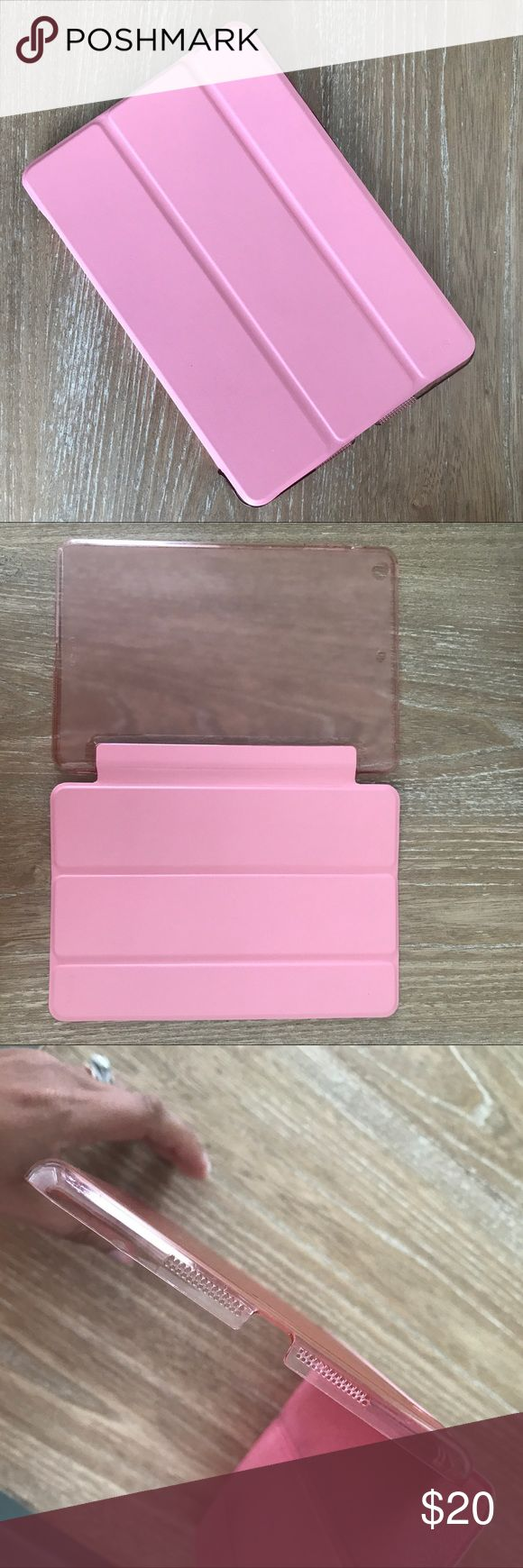 IPAD MINI SMART COVER CASE WITH BACK HARD CASE 💗Condition: Excellent used condition. All flaws noted on pictures. No cracks. Smart cover turns on and off your Ipad Mini. Fits to Apple Ipad Mini. Color: Bubble gum pink.  💗Smoke free home/Pet hair free 💗No trades, No returns. No modeling  💗 If you want to resell the item, yes, you are allowed to use my photos. 💗Shipping next day. Beautiful package! 💗ALL ITEMS ARE OWNED BY ME. NOT FROM THRIFT STORES 💗All transactions video recorded to…
