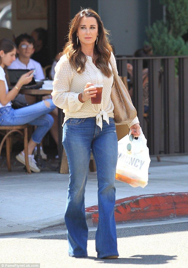 Stylish: Nicky's aunt Kyle Richards was spotted filming Real Housewives of Beverly Hills on Thursday