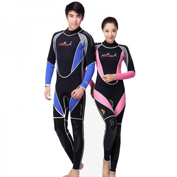 Men/'s 3MM Sunblock Neoprene Wetsuit for Scuba Diving Surfing Swimming Full Body