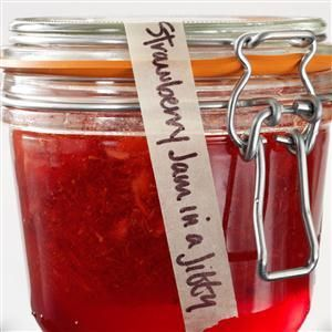 Strawberry Jam in a Jiffy Recipe