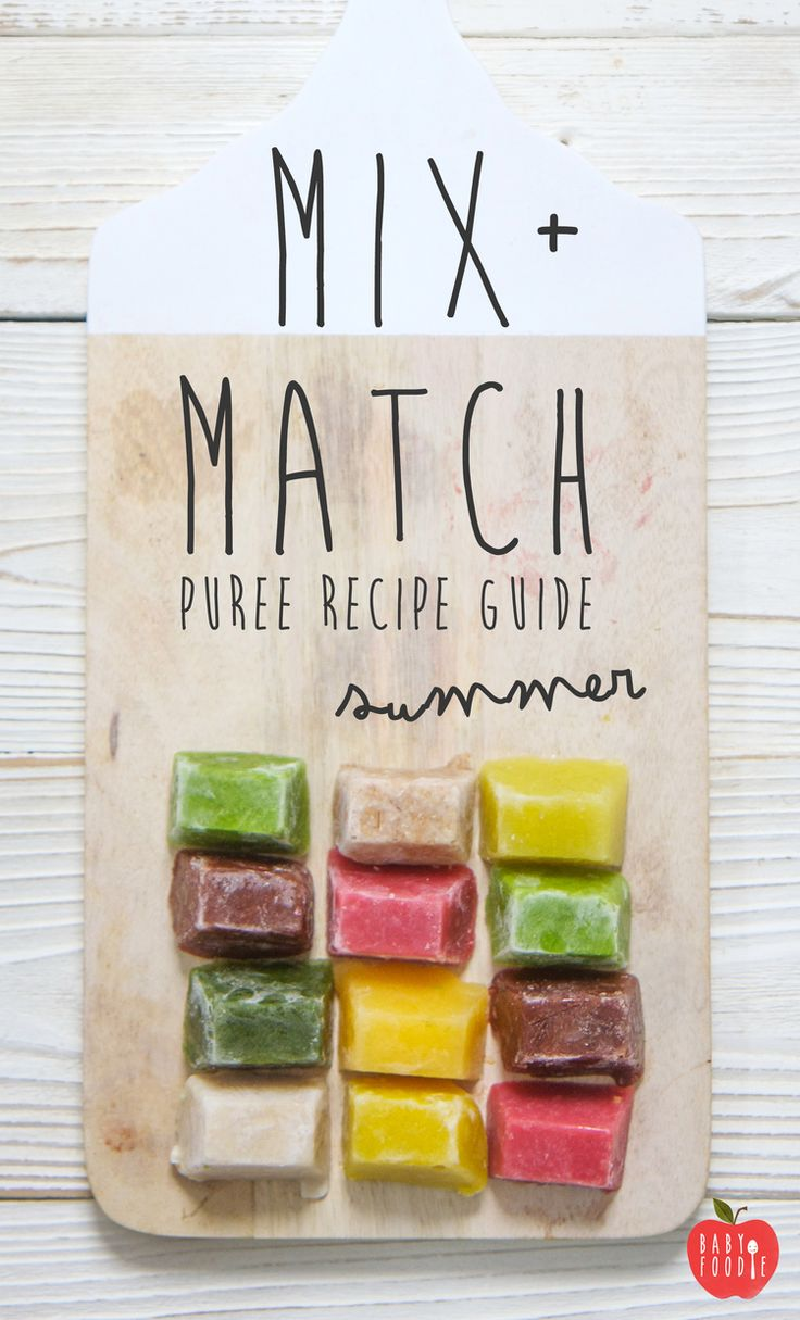 mix match puree recipe guide summer organic baby summer and sprinklers. Black Bedroom Furniture Sets. Home Design Ideas