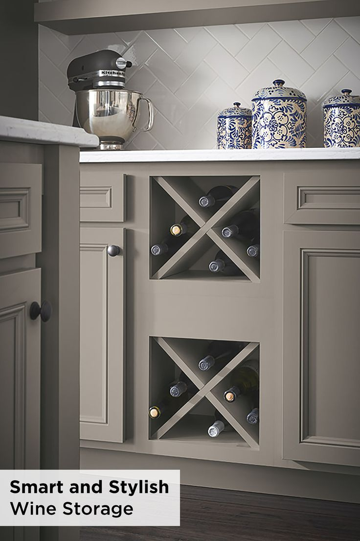 Keep your space smart and stylish with this wine storage cabinet from Aristokraft. This cabinet is not just for wine, although it is highly recommended. Outfit your kitchen with sleek storage solutions.