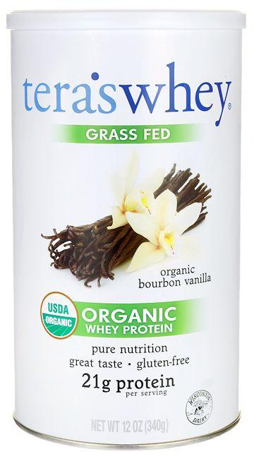 Tera's Whey Grass Fed Organic Whey Protein - Organic Bourbon Vanilla