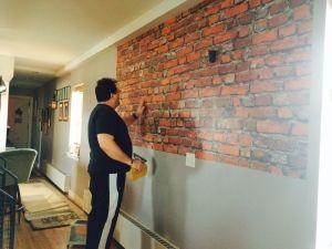 DIY brick wall... Sure why not