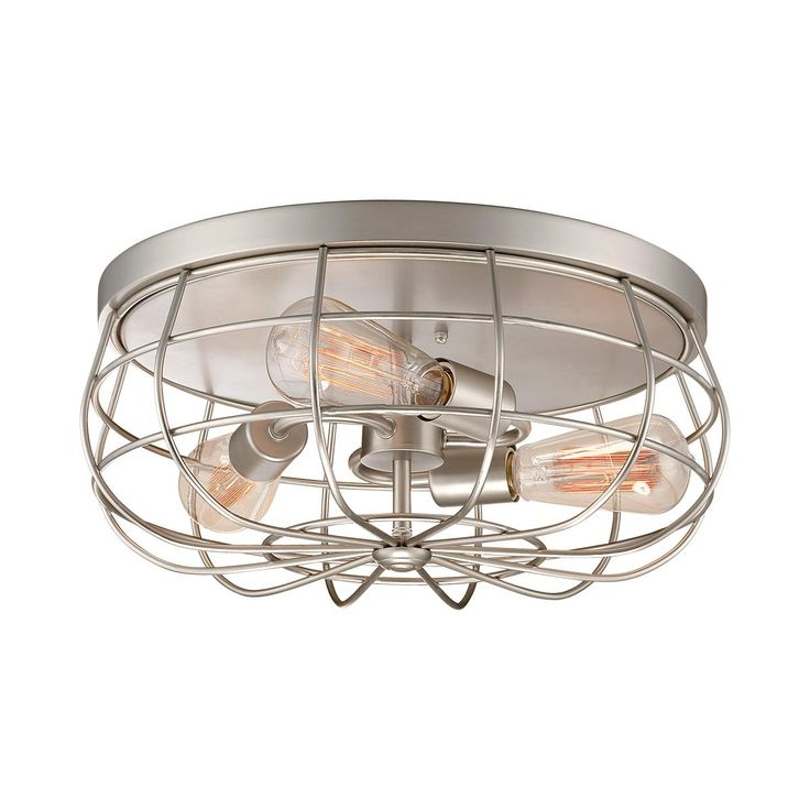 Industrial Cage Ceiling Light -BRONZE