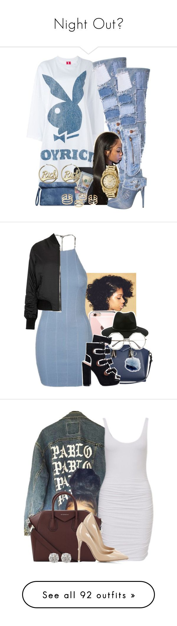 """""""Night Out"""" by heavensincere ❤ liked on Polyvore featuring Joyrich, Invicta, Givenchy, Topshop, Forever 21, Michael Kors, Gianvito Rossi, River Island, Yves Saint Laurent and Mura"""