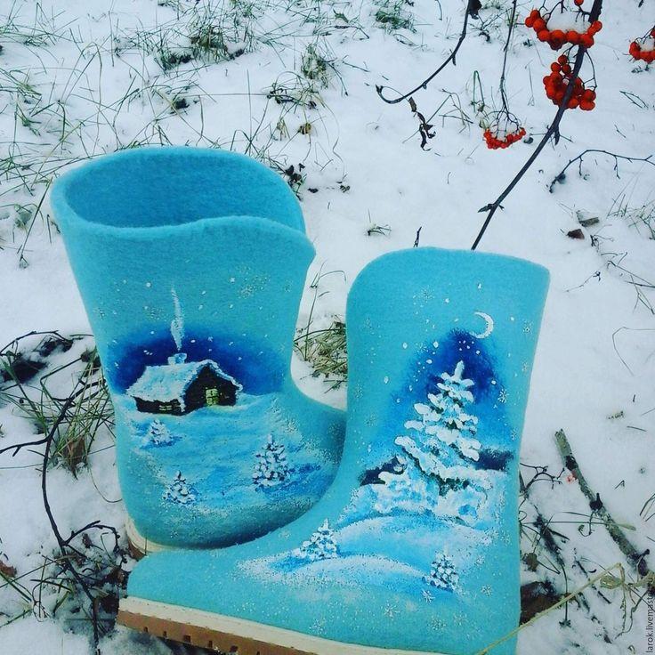 """Купить Валенки """"Зимняя тайна"""" - зима, зима 2015, валенки, валенки для улицы"""